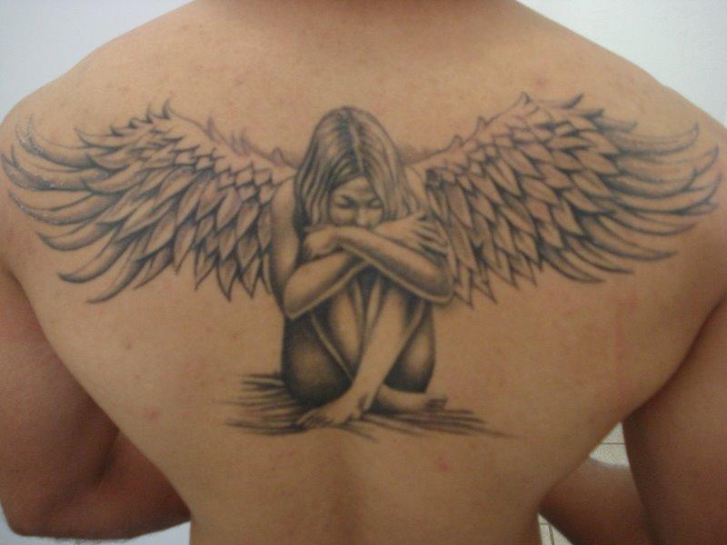 Muito Significado da Tatuagem de Anjo XD33