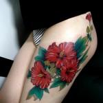 tatuagem de flores