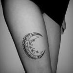 tatuagem de lua