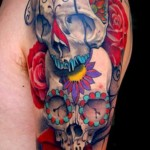 tatuagem de caveira mexicana
