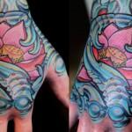 tatuagem de flor de lótus