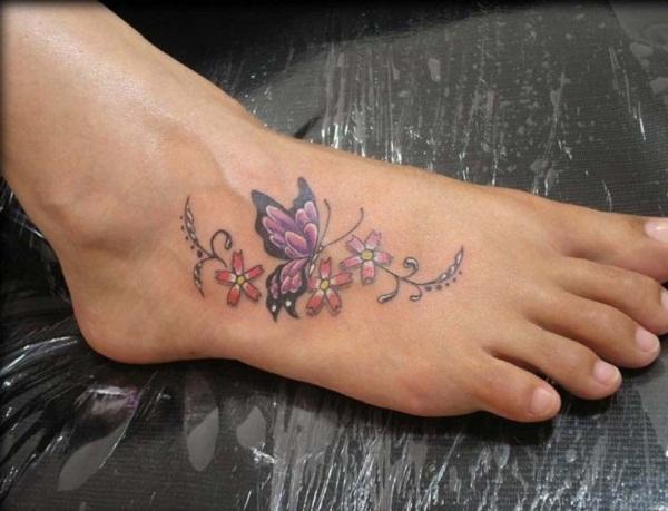 Resultado de imagem para tatuagem no pé