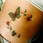 tatuagens femininas na barriga