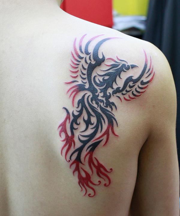 Tatuagem da f nix significado simbolismo e fotos for Fenix tribal tattoo