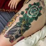 Neste artigo vai encontrar várias ideias para fazer uma tatuagem na sua coxa