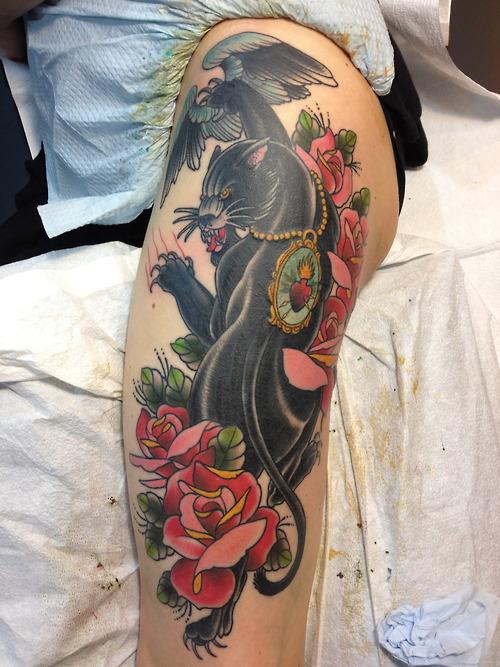 tatuagem de pantera