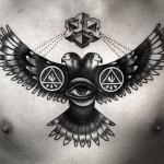 tatuagem de falcão