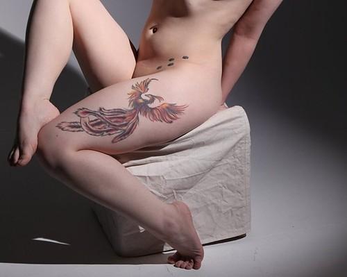 tatuagens femininas fênix