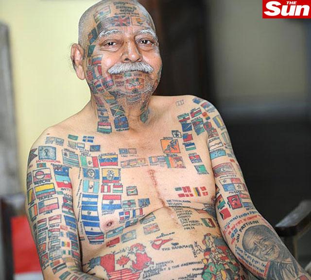 bandeiras tatuadas