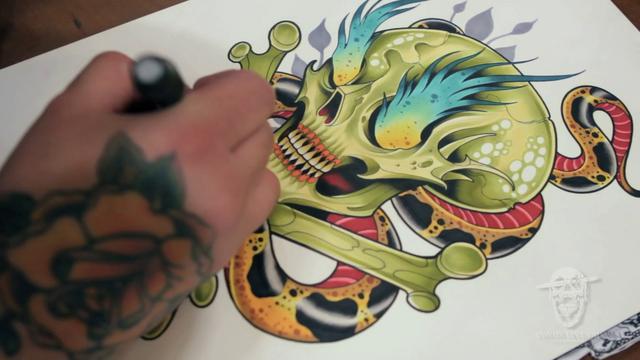 desenhar tatuagem