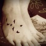 tatuagens femininas no pé