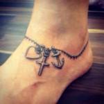 tatuagem de corrente