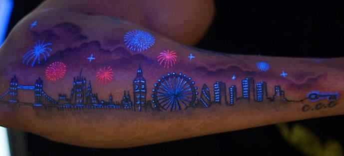 tatuagem brilhante
