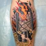 tatuagem de fogo