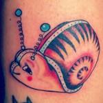 tatuagem de caracol