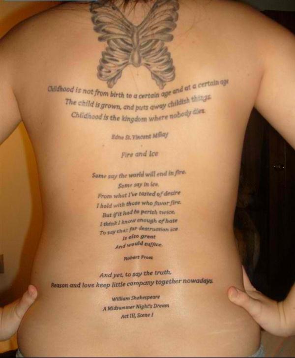 Tattoo Quotes Poetry: Tatuagens Femininas Escritas