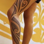 tatuagens maori femininas