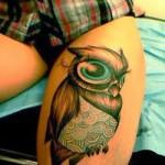 tatuagem de coruja
