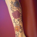tatuagens femininas na panturrilha